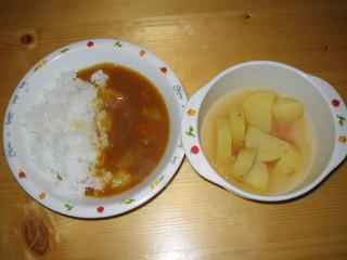 カレーライス&味噌汁