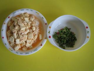 マーボー丼&ゴマ和え
