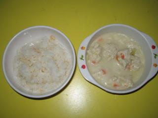 豆ごはん&クリームシシュー