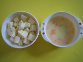 サイコロパン&クリームシチュー
