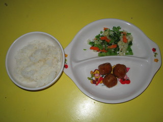 ミートボール&温野菜