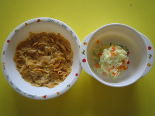 コーンフレーク&サラダ
