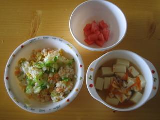 チャーハン&豆腐スープ