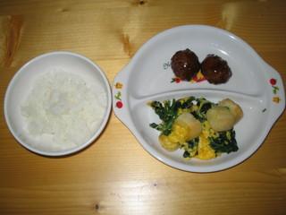 卵とじ&肉団子