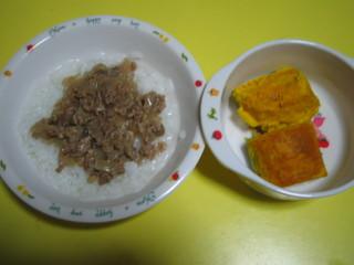 牛丼&カボチャ
