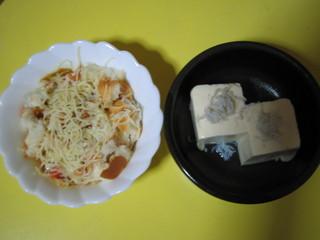 パンがゆ&しらす豆腐